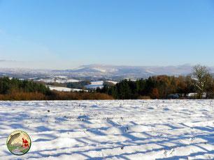 Le massif des Monédières sous la neige