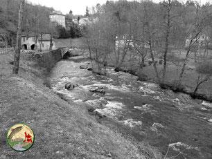 La Corrèze à Corrèze en hiver