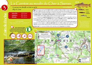 Coin de pêche Corrèze n°3 - La Corrèze au moulin du Cher à Sarran
