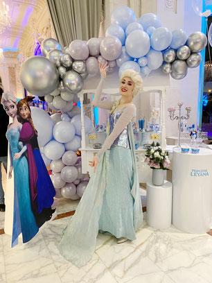 Anniversaire Reine des neiges à domicile