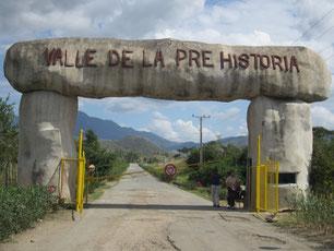 Eingang Valle de la Prehistoria
