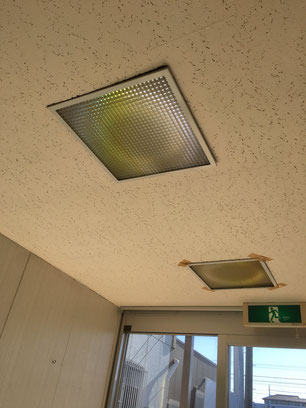 エントランス天井補修他・施工前の画像1