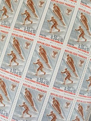 Timbres Jeux Olympiques de Grenoble 1968