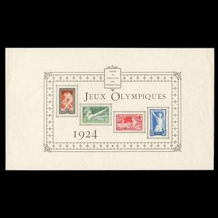 Épreuve collectives timbres Jeux Olympiques de Paris 1924