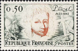 Timbre Blaise Pascal n°1344