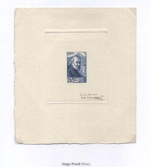 Épreuve d'artiste timbre n°421 Paul Cézanne Aix-en-Provence