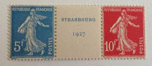 Timbres exposition philatélique Strasbourg 1927
