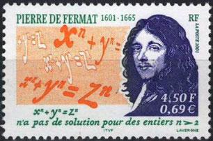 Timbre Pierre de Fermat n°3420 mathématicien