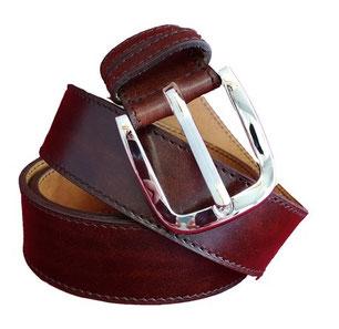 ceinture fabrication artisanale en vrai cuir made in france haut de gamme