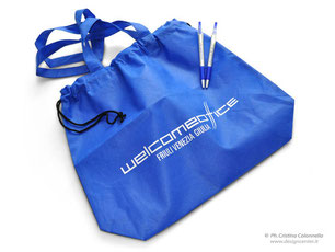 shopper in tnt personalizzata logo FVG Welcome Office