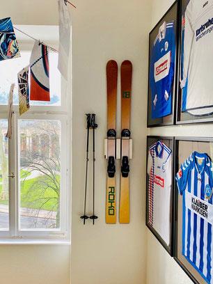 Wandhalterung ROKO Wandmontage Ski horizontal vertikal Ski Halterung wall mount