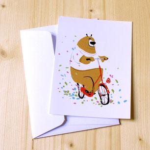 Carte postale illustree par Nicolas Treve pour Piolou