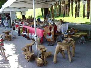 Salzburg Salzachgalerien Stand mit Holzkunst - Foto by Daninas Kunst-Werkstatt