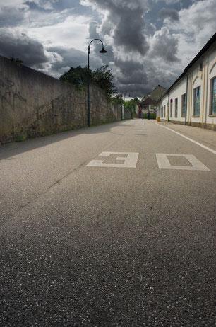 Wird die Gaswerkstraße zur neuen Pkw-Durchzugsroute? ©J. Kerviel