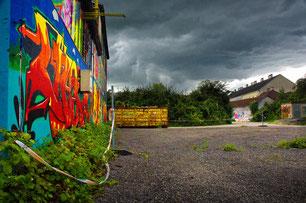 Wolken über dem Gaswerkgelände: ©J. Kerviel