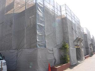 H町営住宅足場設置