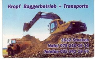 www.kropf-bagger.ch /info@kropf-bagger.ch