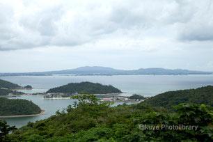 沖縄写真 六田原展望台眺望 塩屋湾