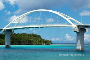 瀬底大橋 沖縄の風景