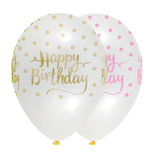ballons happy birthday deco happy birthday rose et or