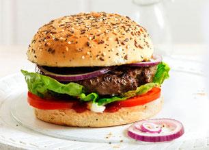 Hamburger à l'onglet et au foie Joli'mousine