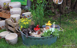 Keramik Fleury präsentiert Miniaturgarten