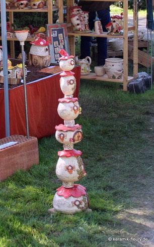 Keramik Fleury Gartenstehle