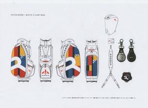 パッチワーク/ホワイト9.5型カートバック画像