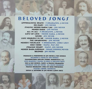 """Beloved Songs"" - back cover"
