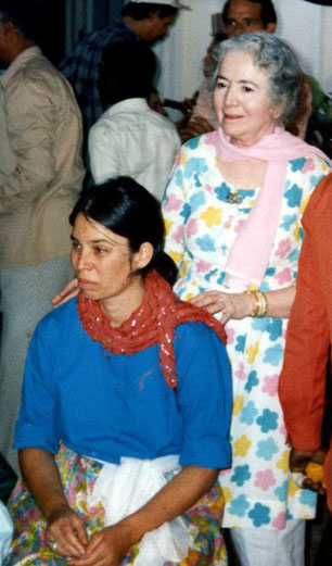 Michal with Mani Irani ( Meher Baba's sister ) in India