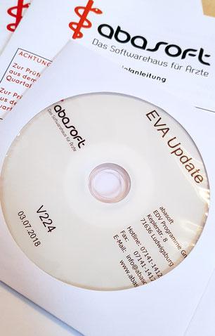 abasoft EVA Praxissoftware Arztsoftware Update V224 Medikamentendatenbank