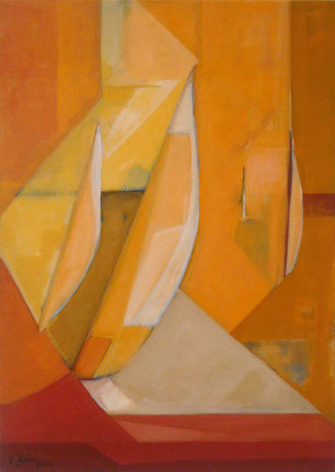 Mistral, Acryl auf Leinwand, 50 x 70 cm, 2008