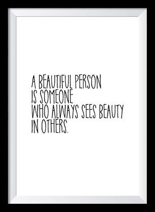 Typografie Poster Liebe, Typografie Print, a beautiful person