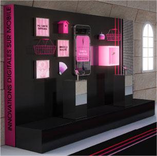 design scénographie exposition sephora x lever de rideau