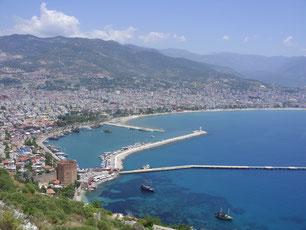 Alanya; Turkse riviera; Turkije; Middellandse zee; Zon