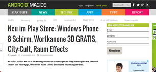 My first app ever: Wortkanone im Android Mag