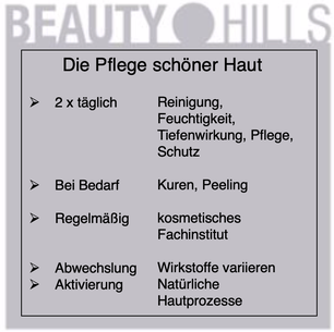 Beauty Hills, Kosmetik, Pflege schöner gesunder Haut, Systemkosmetik
