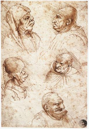 karikatuur studie Leonardo da Vinci