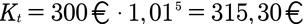 Beispiel für die Berechnung des Jahreszinses mit Zinseszinsen