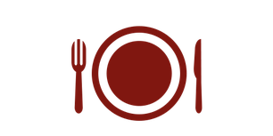 Icon Teller mit Besteck
