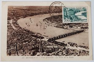 Carte maximum timbre poste aérienne Bordeaux