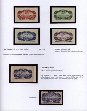 timbre burelé poste aérienne 1936