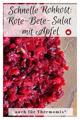 Rote-Beete-Salat mit Apfel Rohkost #rotebete #rohkost #thermomixrezepte