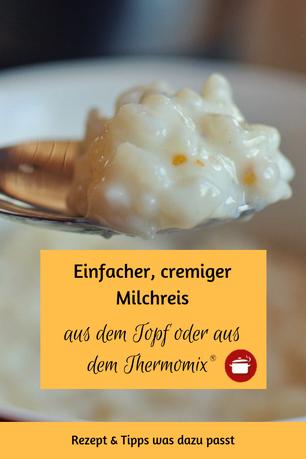 Milchreis aus dem Topf oder #thermomixrezepte #milchreis #soulfood