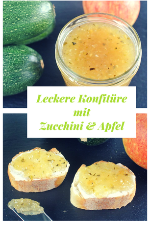 Leckere Konfitüre mit Zucchini und #Apfel #zucchinirezepte #marmelade #thermomixrezepte