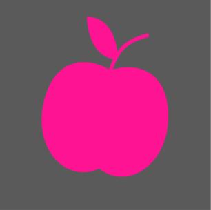 Frauen Fitness Ernährungsprogramm Symbol Apfel
