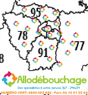 Débouchage canalisation departements 75-77-78-91-92-93-94-95
