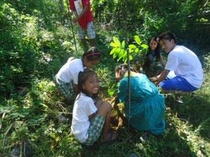 植林は子どもたちの楽しみの1つ!