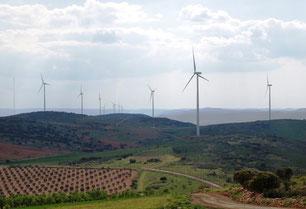 Aerogeneradores en Castilla La Mancha