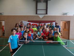 So viele Kinder trainierten in Sierndorf beim Camp 2014.